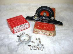 STARRETT No. 25R Dial Indicator / Contact Point Set & Protractor No. PRN 1224