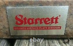 STARRETT Surface Plate Dial Comparator Granite Base Gage with Westhoff Indicator