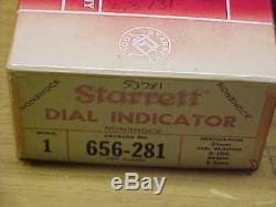 STARRETT TOOLS 0.01mm DIAL INDICATOR 656-281 NEW