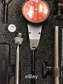 SUPER CLEAN! Starrett #811 Dial Test Indicator Big Set. 001 0-30-0 F01