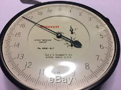 Starett Dial Indicator 656-617.400 Range. 0001 Graduation 3 1/2 face Nice