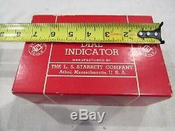 Starett Dial Indicator 656-617.400 Range. 0001 Graduation with Tolerance Hands