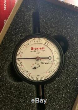 Starrett 0.0005 Graduation, Flat Back Dial Indicator, 25-131-626