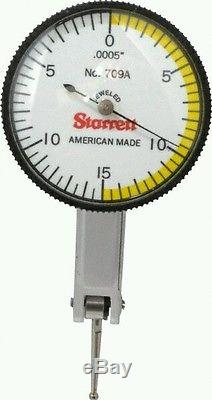 Starrett- 0.0005 Inch Dial Graduation, Horizontal Dial Test Indicator