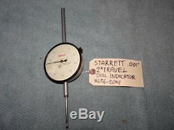 Starrett. 001 Dial Indicator 2 Travel # 656-2041