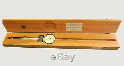 Starrett. 001 in Long Range Indicator 0-8 in with Wood Case (656-8041)