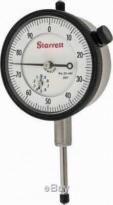 Starrett 1 Range, 0-100 Dial Reading, 0.001 Graduation Dial Drop Indicator