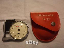 Starrett #1010 Dial Indicator Pocket Gage