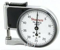 Starrett 1010EZ Dial Indicator Pocket Thickness Gage Gauge 0-0.375 / 0.0005