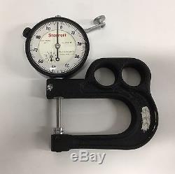 Starrett 1015B Portable Dial Thickness Gage, 0-1 Range. 001 Graduation