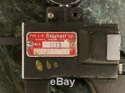Starrett 1175 Dial Indicator Groove Gage. 375-6 Range. 0005 Graduation
