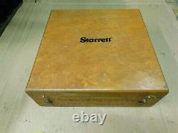 Starrett 1175 Dial Indicator Groove Gage with Wood Case