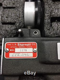 Starrett 1175 Dial Indicator Groove Gage wooden box