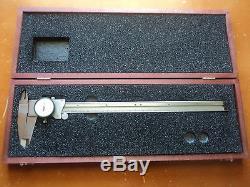 Starrett #120-12 Dial Calipers with Wood Starrett Case