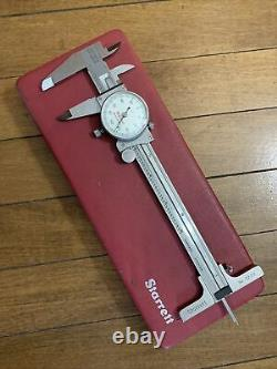 Starrett 120 Dial Caliper with 722D Attachment with Case. 001 Machinist Tool USA