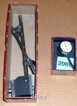 Starrett 196 Button Back Indicator-new-in Box657aa Mag Base Super Clean-in Box