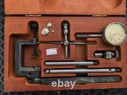 Starrett 196 Universal Back Plunger Dial Test Indicator Set, Original Case