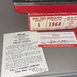 Starrett 196A Dial Test Indicator Set 0-100