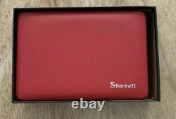 Starrett 196A Dial Test Indicator Set With Attachments in Hard Case and Box