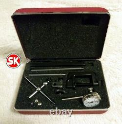 Starrett 196A1Z Dial Test Indicator Kit Universal Back Plunger with case USA