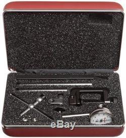 Starrett 196A1Z Universal Dial Indicator, Back Plunger, White Dial, 0-100