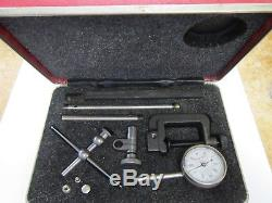 Starrett 196A1Z Universal Dial Indicator, Back Plunger, White Dial, 0-100 Readin
