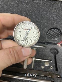 Starrett 196A1Z Universal Dial Test Indicator Set Machinist Tool Maker Box Find