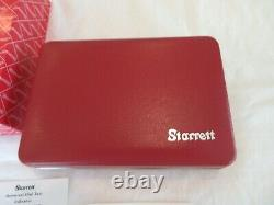 Starrett 196A5Z Dial Test Indicator Kit Back Plunger with case USA