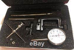 Starrett 196A6Z Universal Back Plunger Dial Indicator withAttachments, 0.200