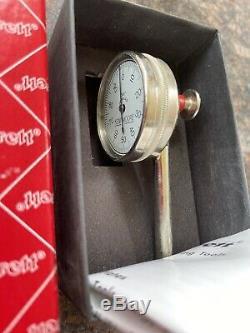 Starrett 196B1 Dial Indicator, Back Plunger + Swivel Adapter + Magnetic Base