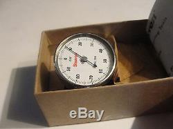 Starrett 196B1 Universal Dial Indicator, Back Plunger, White Dial, New
