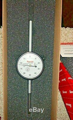 Starrett 2 Range, 0.001 Drop Indicator, 2 3/4 Dial, 655-2041J