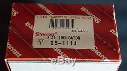 Starrett #25-111j Dial Indicator Grad. 0001 Reading 0-5-0 Range. 025 MINT