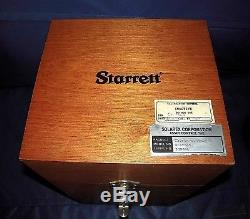 Starrett 25-131 Dial Indicator With Bench Test Stand Wooden Box EXCELLENT