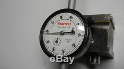 Starrett #25-3041 Dial Indicator with#657 Magnetic Base combo used