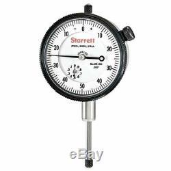 Starrett 25-341J 0-1 0-50-0 AGD 2 DiaI Indicator