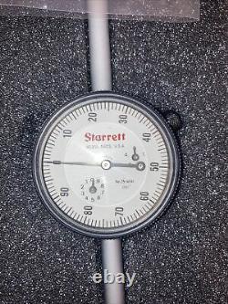 Starrett 25-4041J Dial Indicator, 0-4 Range, 0-100 Cont Dial MAKE OFFER, CLEAN
