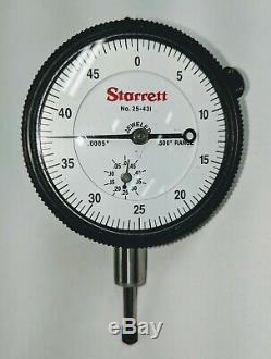 Starrett 25-431J Dial Indicator. 500 Range. 0005 Graduation