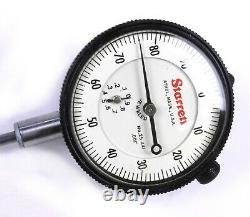 Starrett 25-441 Dial Indicator, 0-1.000 Range, 0-100.001 Grad. 375 Stem Dia