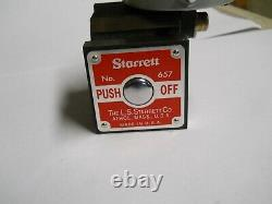 Starrett #25-441 Dial Indicator with657 Magnetic Base. 001 & 1 range used