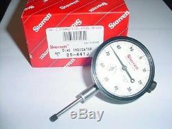 Starrett 25-441J Dial Indicator 0-1 Inch Travel. 001 Graduation. 100 Per Rev