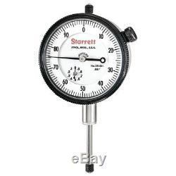 Starrett 25-441J Dial Indicator 1.000 Range, 0.001 Graduation