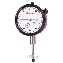 Starrett 25-441J Dial Indicator 2-1/4 1.000 0-100 Dial