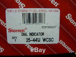 Starrett 25-441J WCSC Dial Indicator, EDP 56807