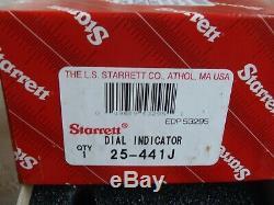 Starrett 25-441j Dial Indicator 1 Range 0.001 Graducation New Old Stock