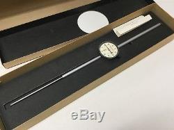 Starrett 25-5041 Long Range Dial Indicator Gauge, 0-5, 2.25 Face, 0.001 Grad