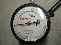 Starrett #25-511 Dial Indicator with #672 Universal Back Attachment used