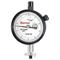 Starrett 25-511J Dial Indicator