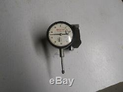 Starrett #25-631 Dial Indicator with657 Magnetic Base. 0005 & 1 range used