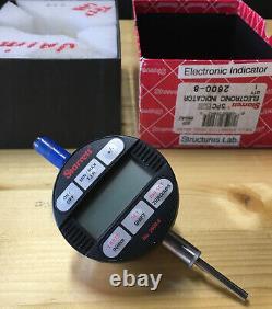 Starrett 2600-8 LCD Electronic Indicator, Full Function Model, 0.375 Stem Dial